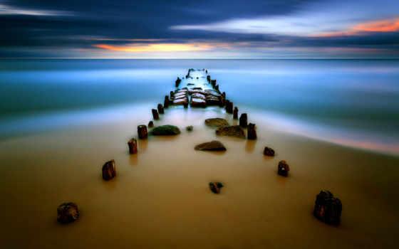 море, берег Фон № 8712 разрешение 1920x1200