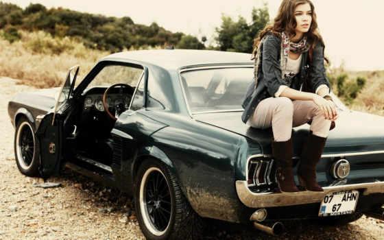 девушки, машины, машину, девушка, mustang, моют, photos,