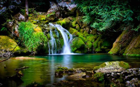 водопады, водопад, картинку