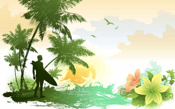 surf, пляж, ipad