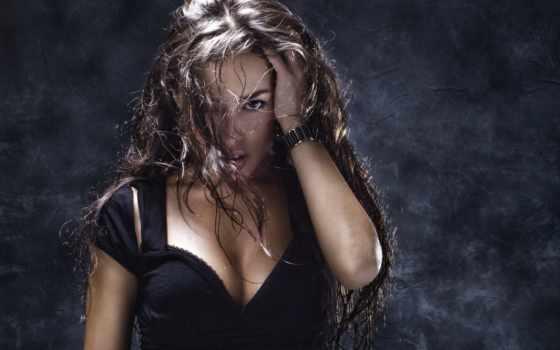 волосы, devushki, растрепанные, babe, девушка, часы, взгляд,