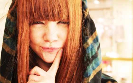 devushki, девушка, волосами, красивая, белыми, волосы, рыжая, девушек, рыжие, взгляд,