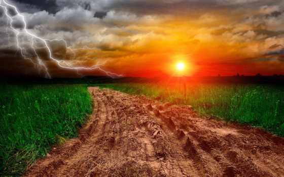 дороги, природа, коллекция, молнии, загружено, уже, shine, лучшая,