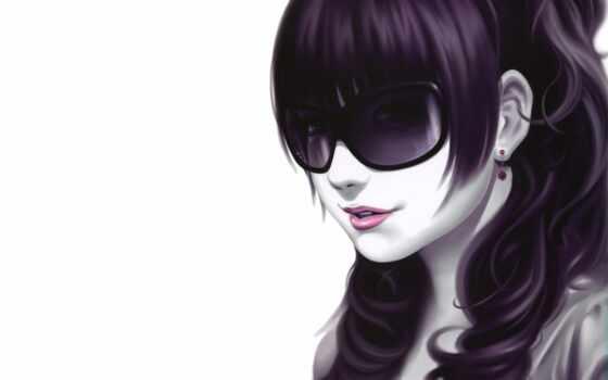 девушка, point, серьга, волосы, ava, рисовка