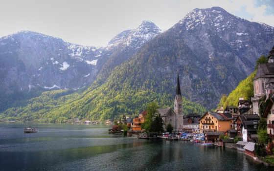 австрия, горы, дома
