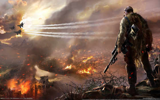 снайпер, воин, ghost Фон № 107301 разрешение 1920x1080