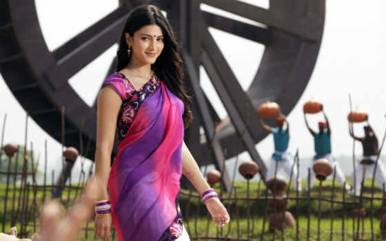 shruti, hassan, singh, gabbar, saree, haasan, hot, stills, песнь,