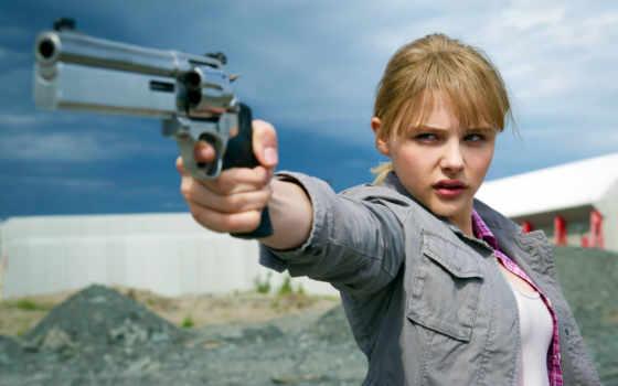 moretz, chloe, ass, kick, девушка, пистолет, guns, movies, хит, pistol,