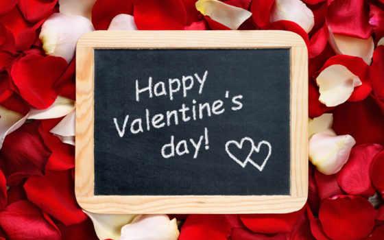 день, роза, valentines, happy, petals, valentine, текст, доска, love,