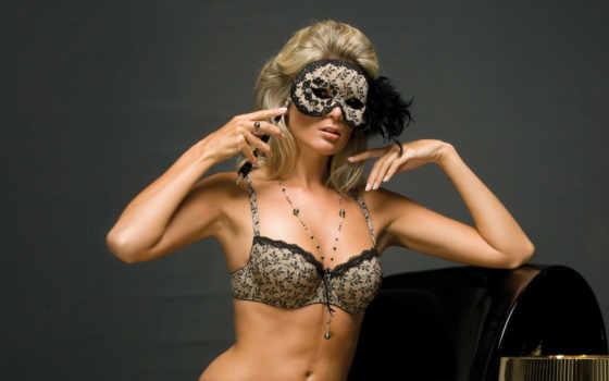 blonde, бусы, маска, перо, belle, девушка, маске, trance, vocal, постели, февр,