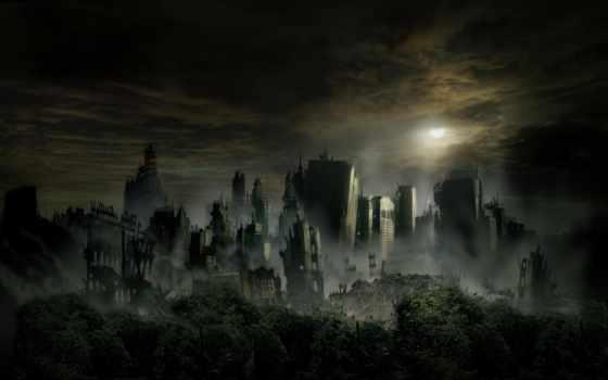 город, апокалипсис, разрушенный, dark, зомби, more, life, sveta,