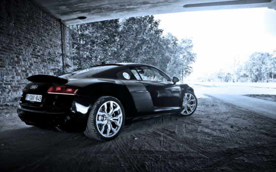 ауди, black, car, cars, машина, spyder,