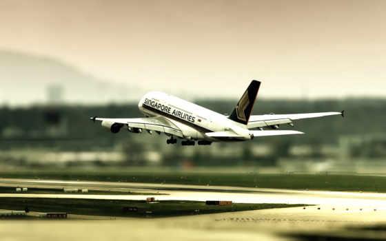 самолёт, airport, takeoff, самолета, рассвет, chicago, usa, авиация,