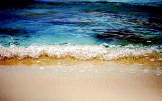 море, пляж, caribbean, волна, песок, остров