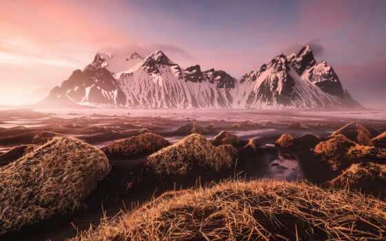 iceland, гора, vestrahorn, gora, исландия, природа, stokkness, razreshenie, landmark, foot