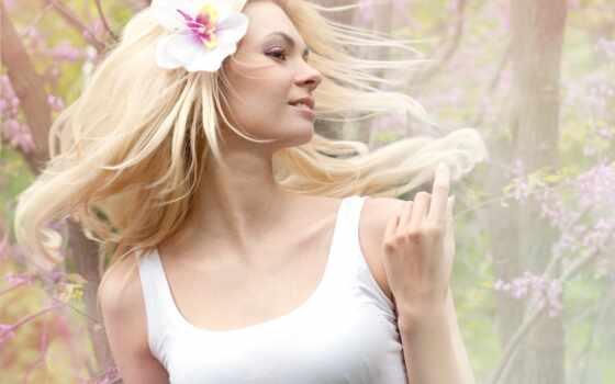 женщина, luck, energy, красивый, волосы, удар, девушка, молодой, который