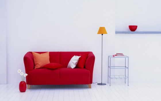 лампа, диванчик