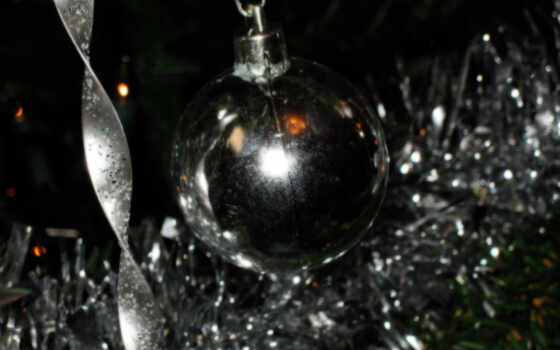 christmas, silver, image, sparkle, all, high,