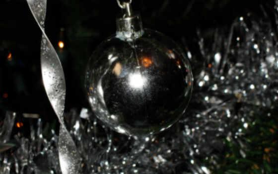 christmas, silver