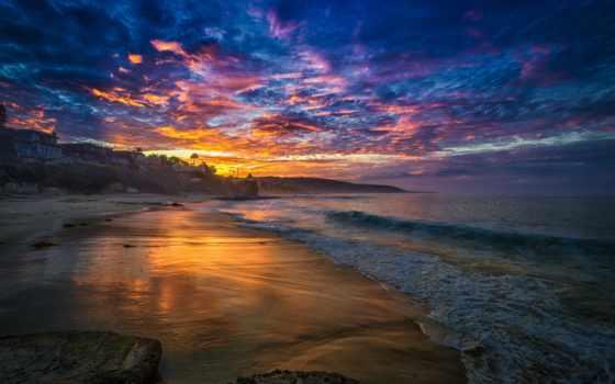 море, bay, пляж