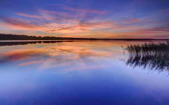 sweden, озеро, природа, trees, water, вечер, karlstad, гладь, небо, венерн,