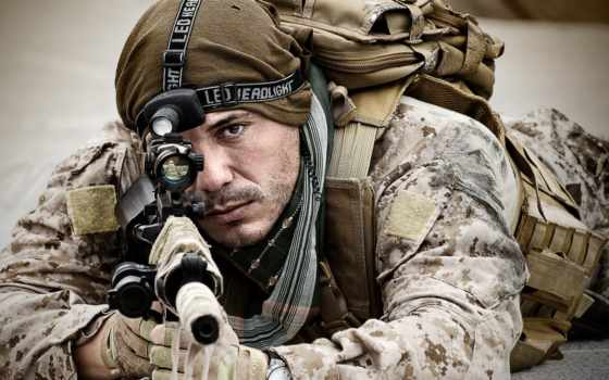 шаблон, оружием, солдат