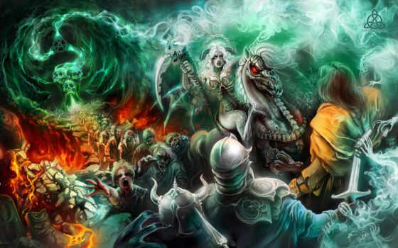 битва, демоны