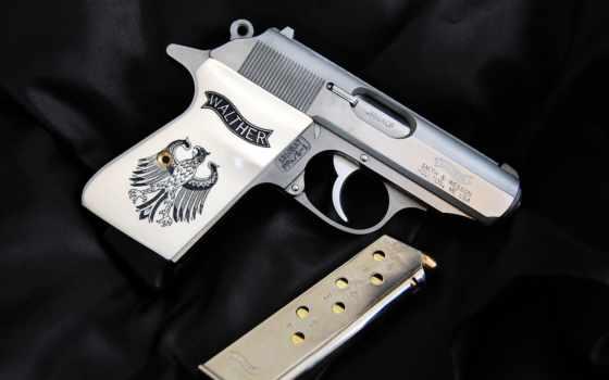 ppk, walther, пистолет, самозарядный, walter, акпп, semi, pistol, стена, плакат,