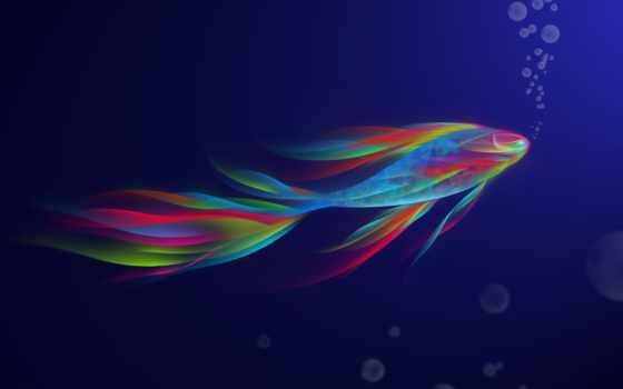 fish, рыбки, абстрактная, разноцветные, art, pisces, water, imgator, фантастическая,