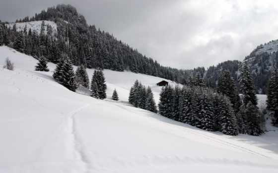 scenery, swiss, white, горы, landscape, black, природа,