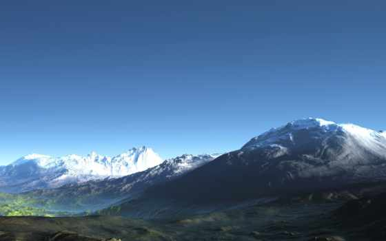 desktop, iphone, mountains