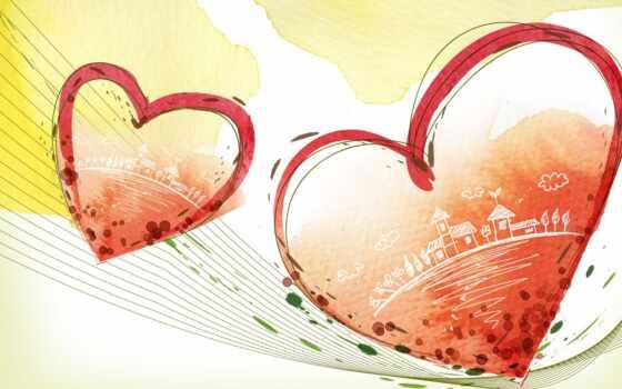 art, valentine, сердце, ретро