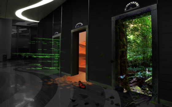 другой, дверь, мир, вернуться, разрешении, двери, поделиться, изображения, лес, лифт,