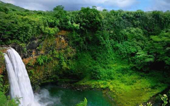 водопад, природа