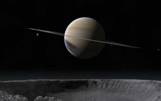 saturno, pantalla, fondos, сатурн, fondo, cosmos, planeta, anillo, estrelas, luas, rhea,
