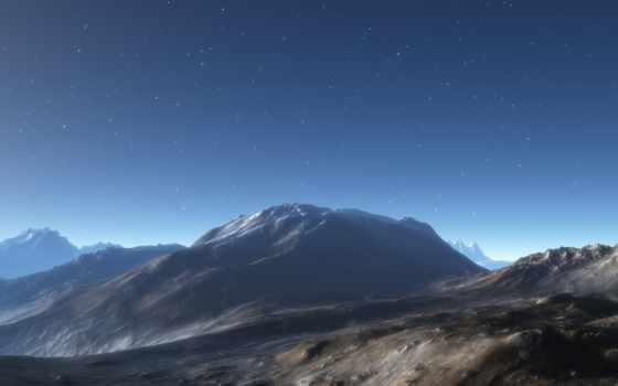 estrelado, landscape, céu