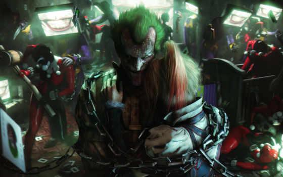 joker, harley, quinn, art, картинка, club, харли,