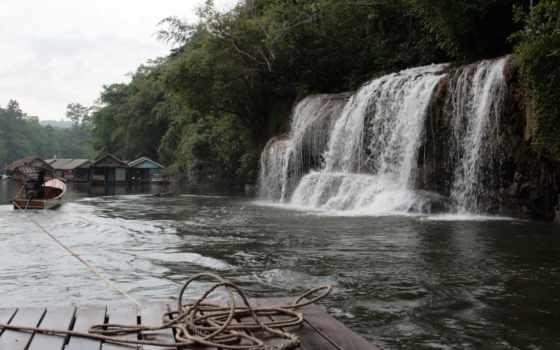 водопад, природа, гора, high, ноутбук, free, река, permission, лес