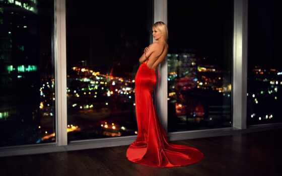 платье, red, blonde, модель, женщина, город, narrow, discover, pin, хороший