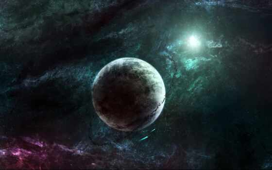 planet, космос, star, universe, abyss, flash, nebula, корабль, астероид