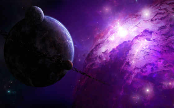 universe, space, purple