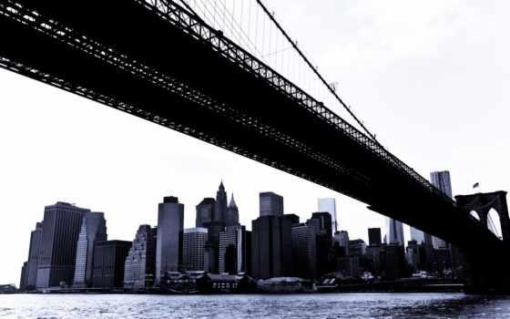 бруклин, new, мост