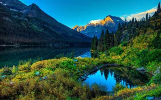 природа, summer, красивые, горы, лес, река, небо, озеро, красивая, леса,
