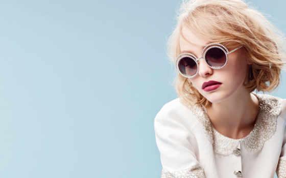 chanel, sunglasses, круглый