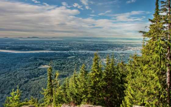 vancouver, north, линн, burnaby, фото, scenery, природа, горы, изображение, картинка,
