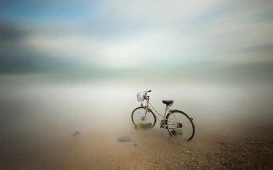 bike, море, велосипед, размытость, king, дорога
