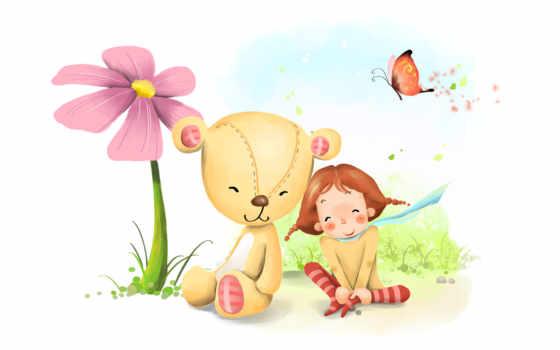 детские, рисунки, стишок
