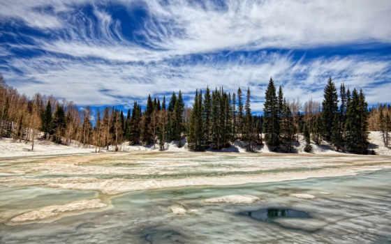 пейзажи -, страница, озеро, замёрзшее, фон, desktop, kenbutsu,