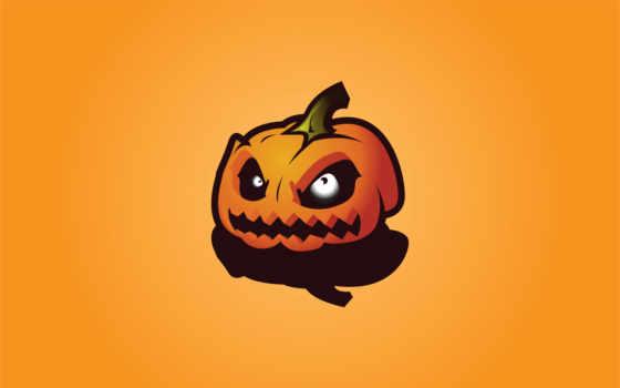тыква, тыквы, halloween, рисунок, злая, праздники,