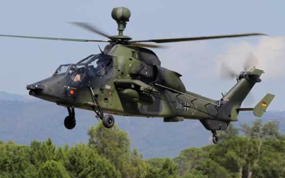 тигр, вертолет, eurocopter, военный, авиация,